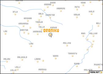 map of Oraniku