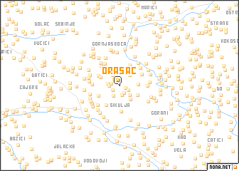 map of Orašac