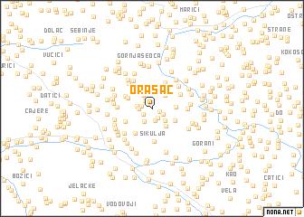 map of Orašac