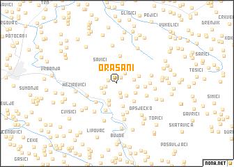 map of Orašani