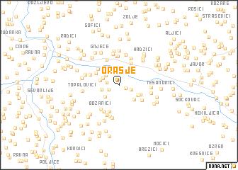 map of Orašje