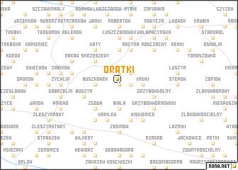 map of Oratki