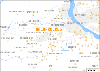 map of Orchard Crest