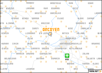 map of Orcoyen