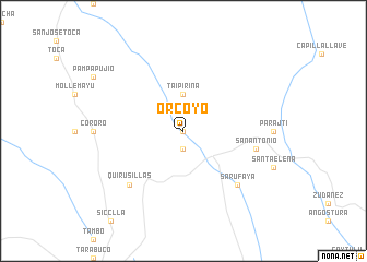 map of Orcoyo