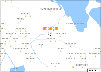 map of Ordoqui