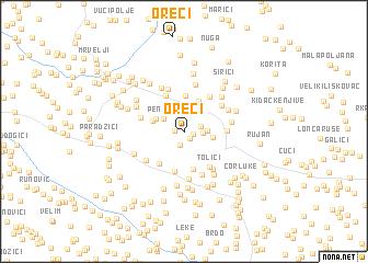 map of Oreči