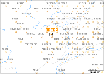 map of Orega