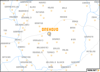 map of Orehovo