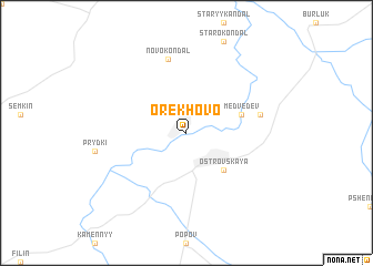 map of Orekhovo