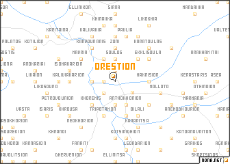 map of Oréstion