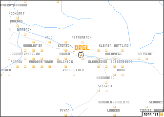 map of Örgl