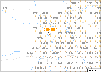 map of Orhena