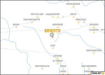 map of Oriente