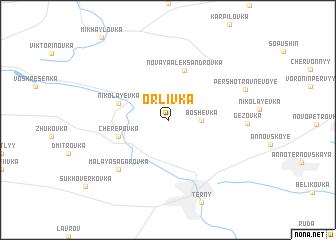 map of Orlivka