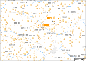 map of Orlovac