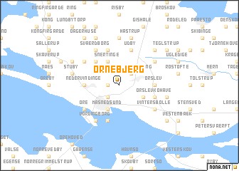 map of Ornebjerg