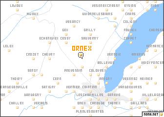 map of Ornex