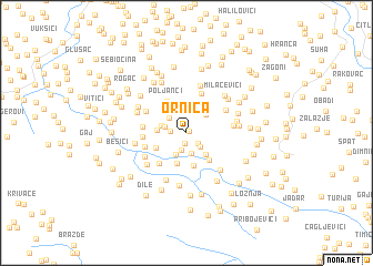 map of Ornica