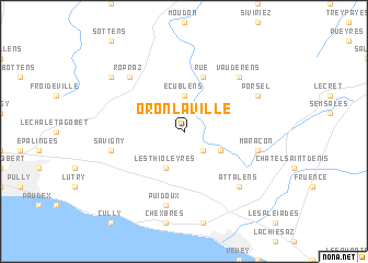 map of Oron-la-ville
