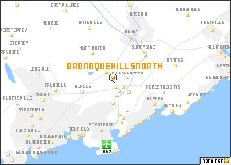 map of Oronoque Hills North