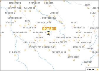 map of Ortega