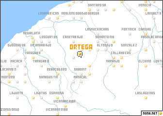 map of Ortega