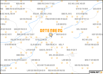 map of Ortenberg