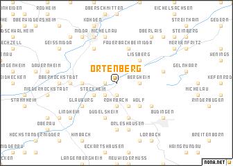 map of Ortenberg