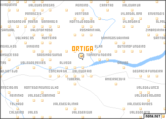 map of Ortiga