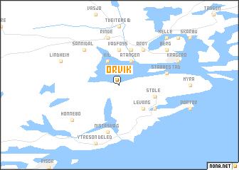 map of Ørvik