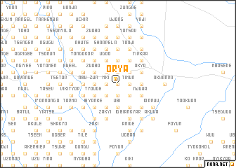map of Orya