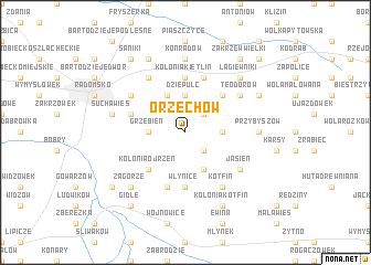 map of Orzechów
