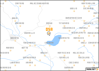 map of Osa