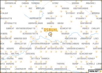 map of Ösbühl