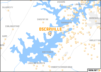 map of Oscarville