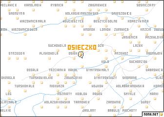 map of Osieczko