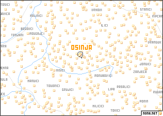 map of Osinja