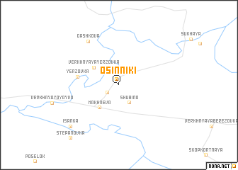 map of Osinniki
