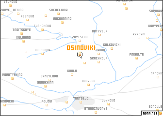 map of Osinoviki