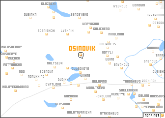 map of Osinovik