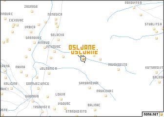 map of Ošljane