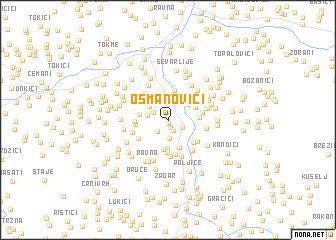 map of Osmanovići