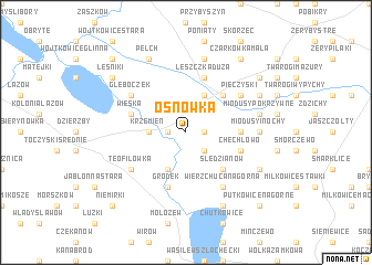 map of Osnówka