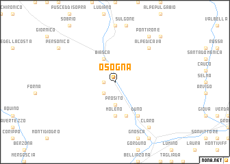 map of Osogna