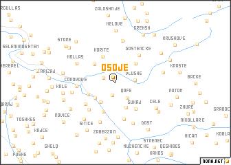 map of Osojë
