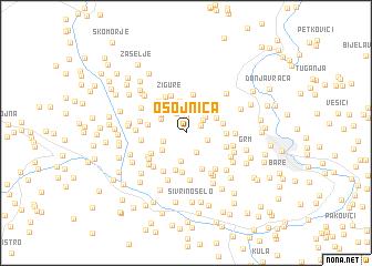 map of Osojnica