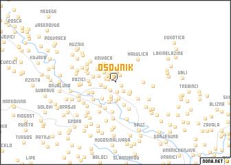 map of Osojnik
