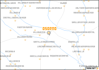 map of Osorno