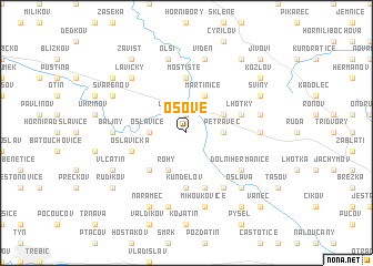 map of Osové